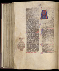 Decorated Initial, In Peter Comestor, Historia Scholastica f.144v